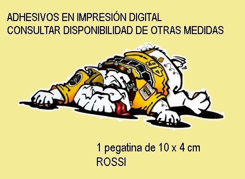 10X4 cm Ecoshirt QI-U01G-1LT2 Pegatinas Stickers Dog Perro Valentino Rossi Ref Fd122 Aufkleber Autocollants Adesivi Moto Decals Motorcycle