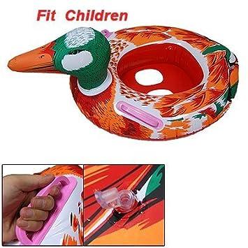 Naranja Rojo Inflable Natación del pato del barco del ...