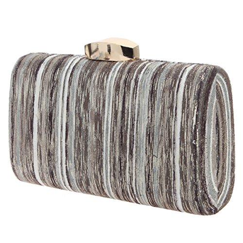 Clutch Fashion For Bags Stripes Gradient Gold Evening Gray Color Bonjanvye Women 7gYqwfw