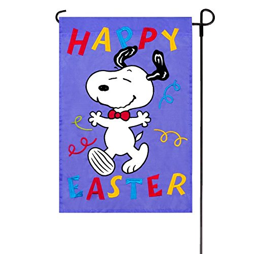 Peanuts HAPPY EASTER GARDEN FLAG 12