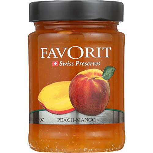 Favorit Preserves - Swiss - Peach-Mango - 12.3 oz - case of - Favorit Cherry Red