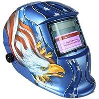 KKmoon Arc Tig Mig Grinding Eagle, Máscara de soldador de soldador de oscurecimiento automático solar, azul
