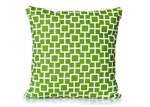 Squares Dwellstudio - Pillow throw pillow accent pillow sofa pillow Robert Allen Cats Cradle Grass Green Pillow Cover 18x18 inches decorative pillow cover