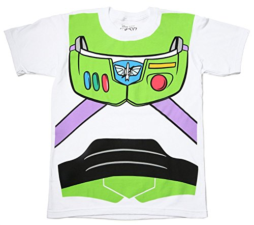 [Toy Story Buzz Lightyear Astronaut Costume White Adult T-shirt Tee XX-Large] (Buzz Lightyear Costumes Women)