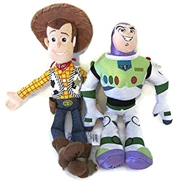 Amazon.es  Toy Story Buzz Lightyear and Woody Soft Plush Figures ... 8d57fb92ad9