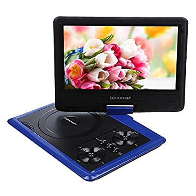 "DBPOWER 7.5"" Portable DVD Player,Support USB,Card Reader,Swivel LCD,TFT,With Free Game CD+Game Controller"