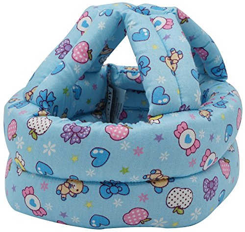 Bellady Infant, Toddler & Baby Child Helmet Head Cushion Bonnet,Blue Candy