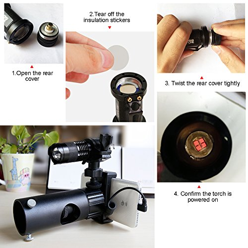 IR Infrared Night Vision Torch 5W 4 Chips 850nm Hunting Flashlight- Infrared Light is Invisible to Human Eyes -To be used with Night Vision Device With 18650 Battery by MAKE THE ONE (Image #1)