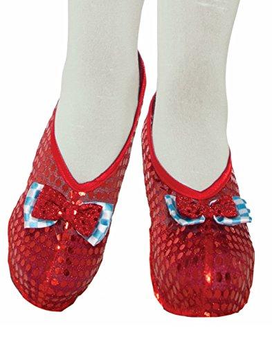 Forum Novelties Farm Girl Shoe Covers, Red, Standard ()