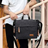MiCoolker Canvas Crossbody Laptop Messenger bag for