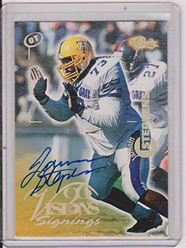 - 1996 Classic Visions Signings Jamian Stephens Autographed Insert Football Card #NNO