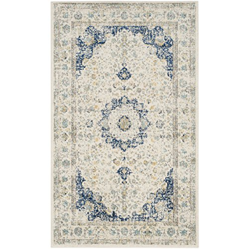 "Safavieh Evoke Collection EVK220C Vintage Oriental Ivory and Blue Area Rug (2'2"" x 4')"