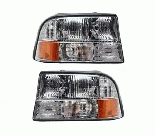 This Is A Brand New Aftermarket Passenger & Driver Side Headlight Assembly Pair That Fits A 1998-2005 GMC Jimmy, 1998-2004 GMC Sonoma, 1998-2001 Oldsmobile Bravada DOT SAE Approved Composite Combination - Bravada Headlights Set Oldsmobile
