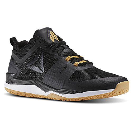 Reebok Men's JJ I Sneaker, Coal/Blk/Wht/RBK Rub Gum/Pwtr/Tin Gry/Me, 12 M US (Tin Rub)
