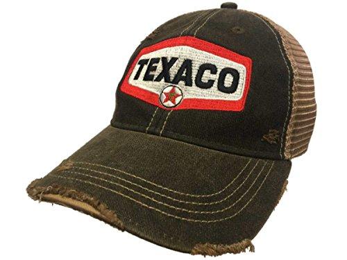 Texaco Gas Station Retro Brand Mesh Brown Adjustable Snapback Trucker Hat  Cap d78217471ea0