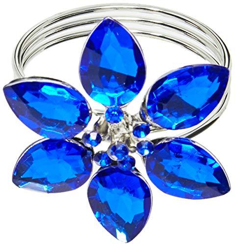 Anel De Guardanapo Holanda Mimo Style Azul/prata