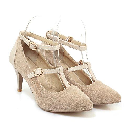 QIN&X Stiletto Femmes Hauts Talons Chaussures Chaussures Bouche Peu Profonde Apricot 31An3H27yL