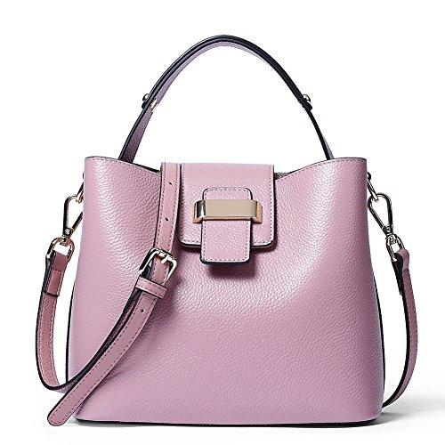 (NAWO Women Leather Designer Handbags Shoulder Tote Top-handle Cross body Bags Clutch Purse)