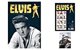 Set: Elvis Presley, Official Calendar 2018 (17x12 inches) And 1x Postcard (6x4 inches)