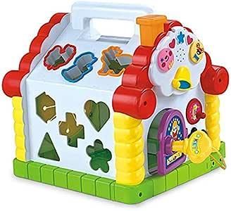Amazon.com: Yiosion Musical Activity Cube Play Center ...