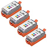 Speedy Inks - 4pk Compatible Canon CLI-36 CLI36 Tri Color for use with Canon PIXMA iP100l, PIXMA mini260, PIXMA mini320, RFB IP100. Ink Cartridges for inkjet printers. CLI-36-C / 1511B002