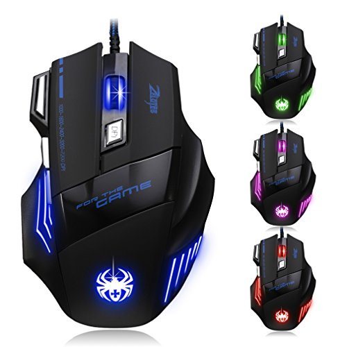 Mouse Gamer : Granvela Zelotes T80 Profesional LED Optico 72