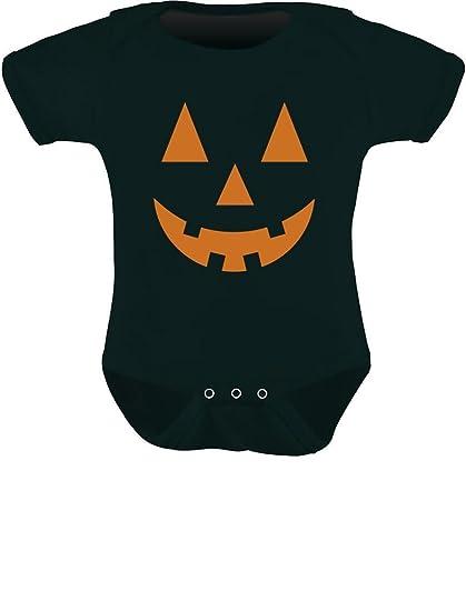 87cd6a392b0 TeeStars - Orange Pumpkin Face Jack O  Lantern Halloween Costume Baby  Bodysuit Newborn Black