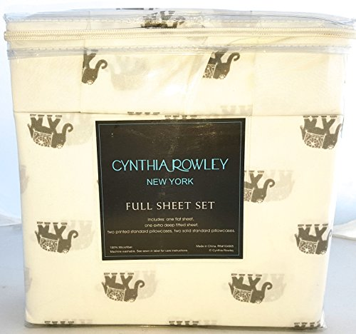 cynthia-rowley-full-grey-and-white-elephant-pattern-microfiber-bedding-sheet-set