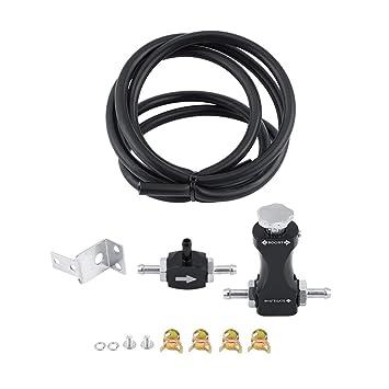 KIMISS Turbo Tee Válvula de purga - Kit de Controlador de refuerzo manual: Amazon.es: Coche y moto