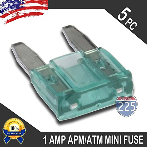 5 Pack 1AMP APM/ATM 32V Mini Blade Style Fuses 1A Short Circuit Protection Car Fuse