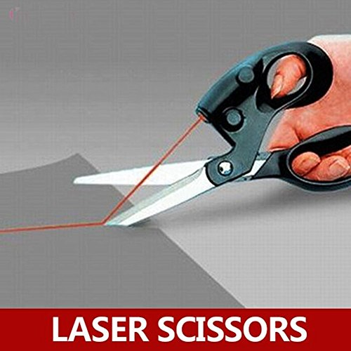 (H-Honetuk Professional Laser Guided Scissors for Home Crafts Wrapping Gifts Fabric Sewing Cut Straight Fast Drop Shipping)