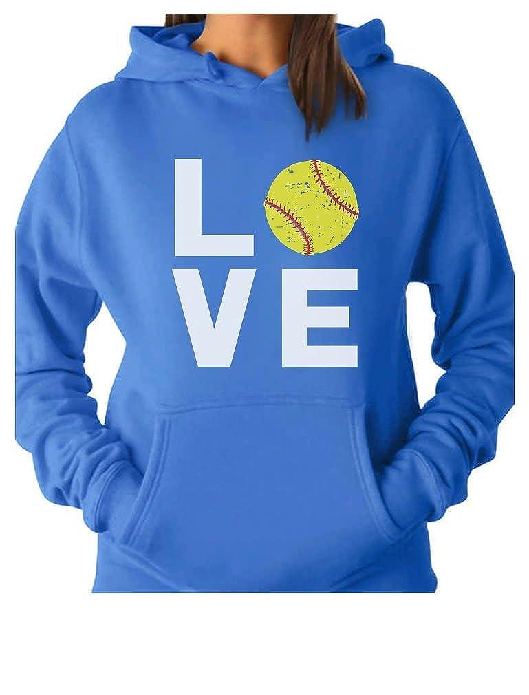 TeeStars - Love Softball - Gift for Softball Fans Women Hoodie GMPltM0gK