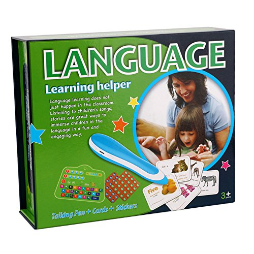 Hibou Language Learning Set Talking Pen Cards&Stickers Educational Toy