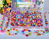 Emorefun Kids Beads Toy DIY Jewelry Beads for Bracelets Necklace Educational Toy Rectangle Box Set of Dark Multicolor