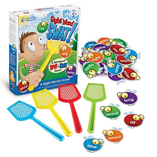 Learning Resources Sight Word Swat a Sight Word Game, Homeschool, Visual, Tactile and Auditory Learning, Phonics Games, 114 Pieces, Ages 5+