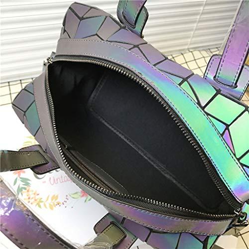 Géométrique Sac Messenger PU À À Main Color Sac Lumineux Main Bandoulière Sac Femelle Lxf20 Sac À Sac Rhombique Sac Luminous nqZwfxaI6