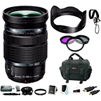 Olympus M.Zuiko Digital ED 12-100mm f/4 IS PRO Lens with Focus Accessory Bundle