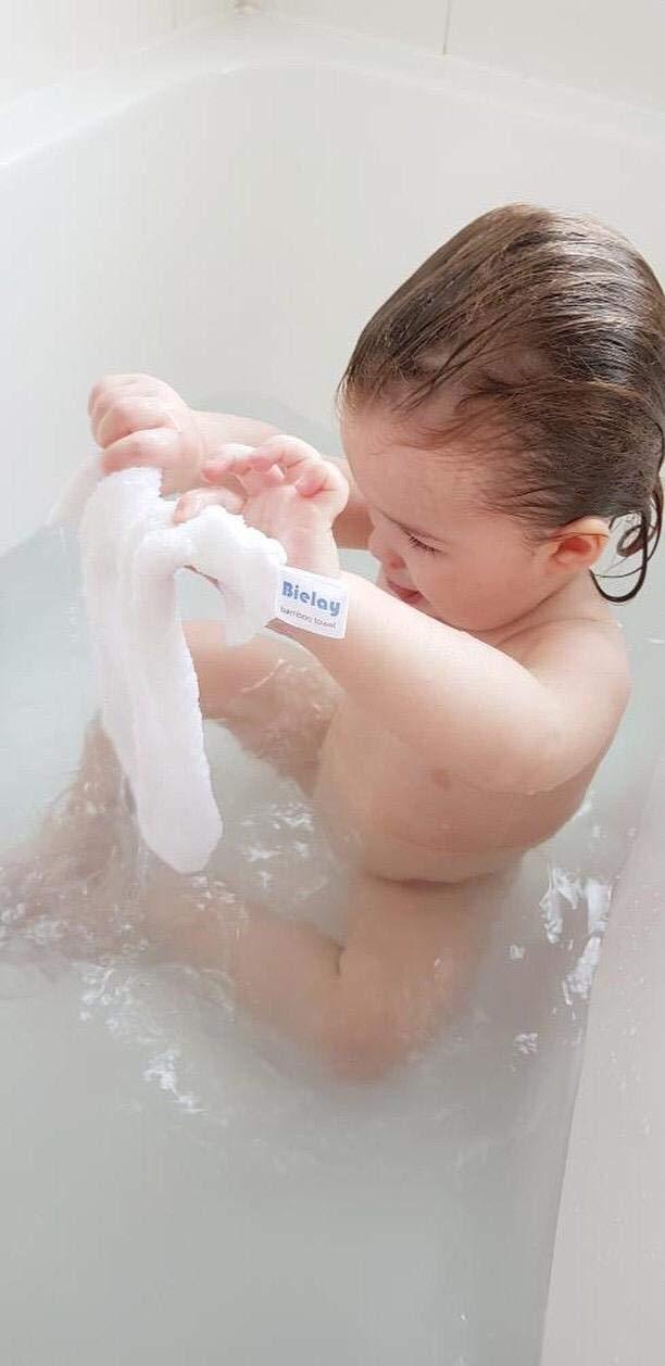 blanca paquete de 6 unidades 100/% de bamb/ú Toalla Bielay para beb/é 25 cm x 25 cm cada una s/úper absorbente ultra suave toallitas para beb/é
