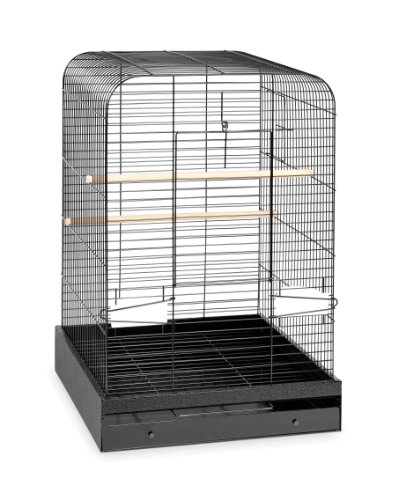 Prevue Hendryx 124BLK Pet Products Madison Bird Cage, Hammertone Black by Prevue Hendryx