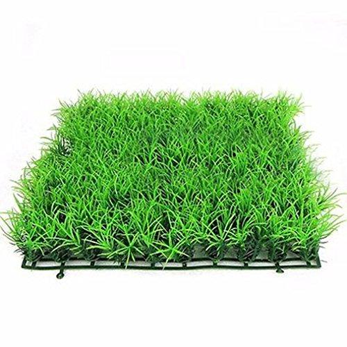 New Artificial Water Aquatic Green Grass Plant Lawn Aquarium Fish Tank Landscape (Green)