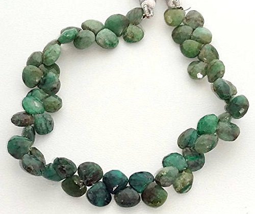 - Chrysocolla faceted heart shaped beads,Chrysocolla faceted beads, 7.5 mm to 8.5 mm 8