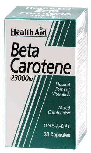 Health Aid Beta-Carotene (Natural) 15mg 30 Capsules by Health Aid