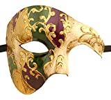 Luxury Mask Mens Phantom Of The Opera Half Face Masquerade Mask Vintage Design