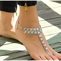 1x Fashion Sexy Silver Anklet Chain Ankle Bracelet Foot Jewelry Barefoot Sandal