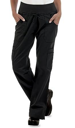 1d2f9848b4e Amazon.com  ChefUniforms.com Womens Stretch Yoga Cargo Chef Pant ...