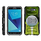 TurtleArmor | Samsung Galaxy J7 2017 Case | J7 V Case | J7 Prime | J7 Sky Pro [Hyper Shock] Armor Hybrid Cover Kickstand Impact Holster Belt Clip Sports and Games Design - Golf Ball Tee