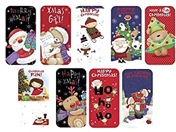 Pack Of 9 Christmas Money Wallet Gift Cards & Envelopes Adult ...