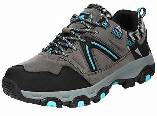 Ben Sports Damen Herren Wanderhalbschuhe Wanderstiefel Traillaufschuhe Walkingschuhe Laufschuhe E-Grau
