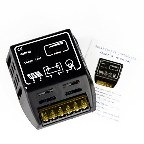 Cmp Solar Panel Charge Charging Controller Regulator 10a 12v 24v - 1