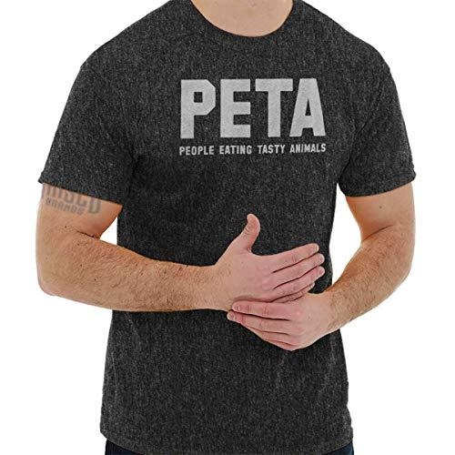 Animals People Tasty Eating (PETA People Eating Tasty Animals Ironic Gym T Shirt Tee Dark Heather)